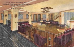 Denver Colorado Spears Chiropractic Sanitarium Antique Postcard K94920