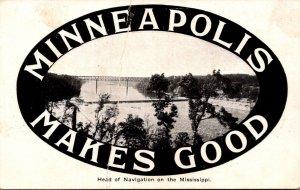 Minnesota Minneapolis Head Of Navigation On The Mississippi