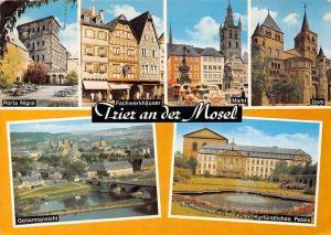 Trier an der Mosel, Porta Nigra Fachwerkhaeuser Markt Dom Kurfuerstliches Palais