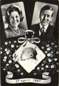 netherlands, Crown Prince Willem Alexander Born (1967)
