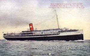 Avalon Steam Boat, All Steal, Twin Screw, Santa Catalina Island, Steamer Ship...
