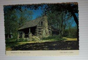 Vintage Postcard Old Matt's Cabin Shepherd of the Hills Farm Branson Missouri 77
