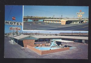 HOLBROOK ARIZONA ROUTE 66 SUN N SAND MOTEL SWIMMING POOL VINTAGE POSTCARD
