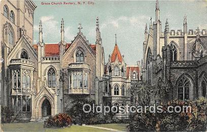 Churches Vintage Postcard New York City, USA Vintage Postcard Grace Church Re...