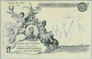 90887 - CARTOLINA d'Epoca - NOVARA  -  Comitato Signore x FERDINANDO SAVOIA 1900