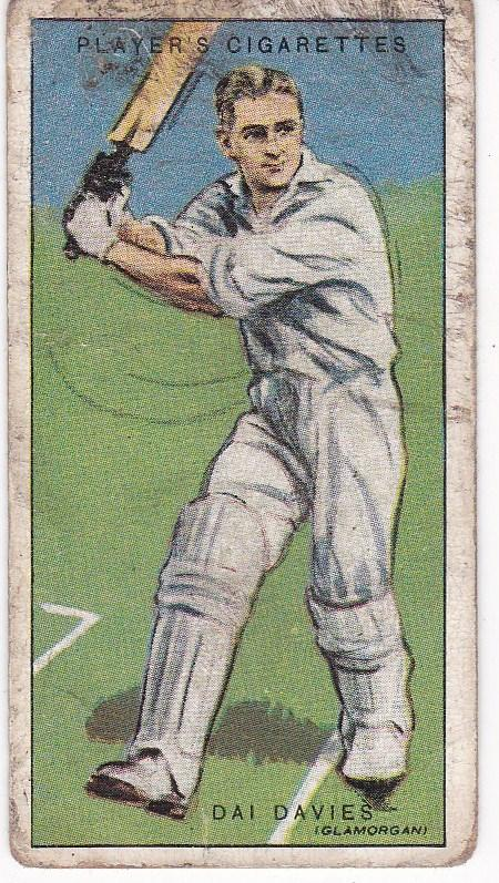 Cigarette Cards Player's Cricketers 1930 No 9 - Dai Davies