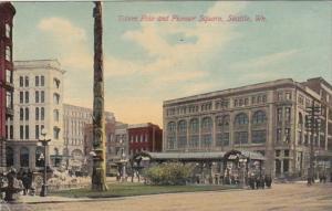 Washington Seattle Totem Pole and Pioneer Square