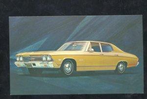 1968 CHEVROLET CHEVELLE MALIBU '68 CHEVY VINTAGE CAR DEALER ADVERTISING POSTCARD