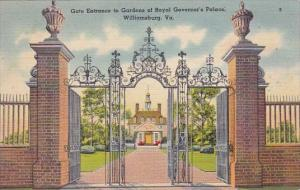 Gate Entrance To Gardens Of Royal Governors Palace Williamsburg Virginia