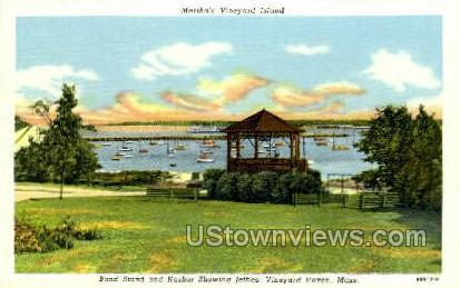 Band Stand & Harbor Vineyard Haven MA Unused