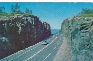 Canada Kama Cut Rock On Trans Canada Highway Ontario