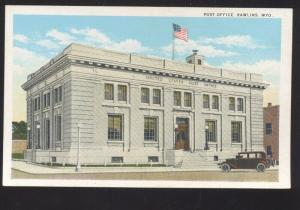 RAWLINS WYOMING UNITED STATES POST OFFICE VINTAGE POSTCARD WYO.