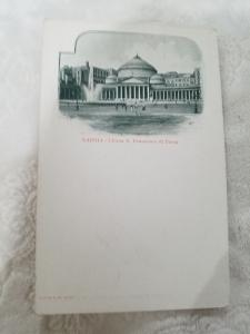 Antique Postcard from Italy, Napoli - Chiesa S. Francesco di Paola