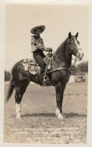 RP: FEMALE RODEO ; BELLE FORCHE , S.D. , 1928 , MABLE STRICKLAND