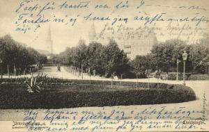 sweden, LINKÖPING, Järnvägsparken (1903)