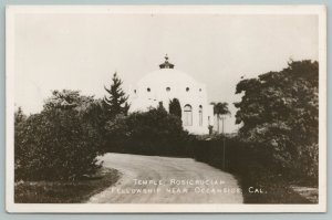 Oceanside California~Circular Drive Near Temple Rosicrucian Fellowship~RPPC 1945