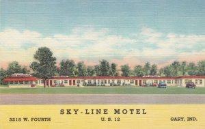 Indiana Gary Sky-Line Motel U S HIghway 12 Curteich sk1376