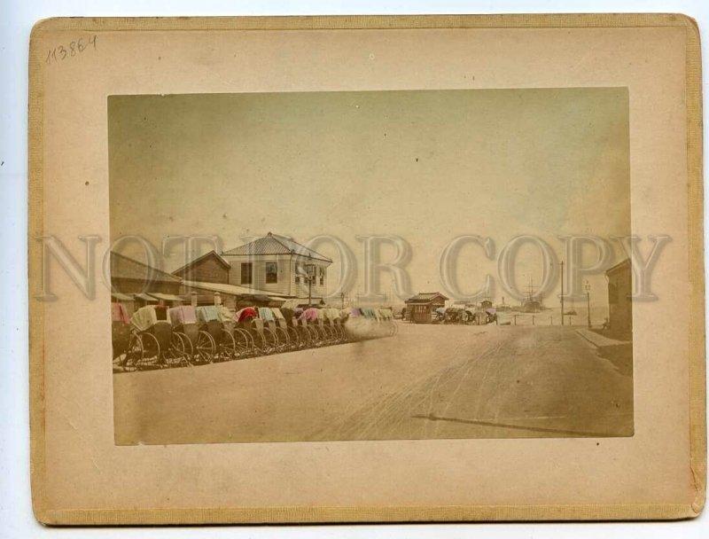 3113864 Japan GEISHA serving TEA & YOKOHAMA TWO tinted PHOTOS