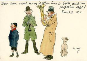 Comic - Series 1295 - How Sour Sweet Music Is    Artist Signed: Phil May