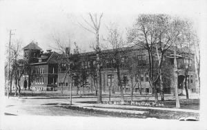 Wheaton Minnesota~Senior High School~Long View~1920s Real Photo Postcard~RPPC
