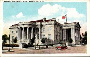 Vtg 1920s Memorial Continental Hall Building DAR Washington DC Postcard