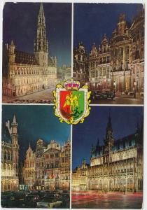 Souvenir from BRUSSELS, unused Postcard