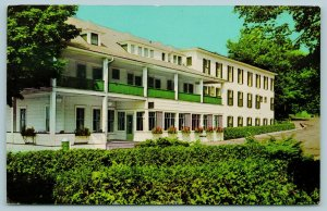 Ludington Michigan~Go to the Epworth Hotel If You Can Get Past the Shrubs 1960s