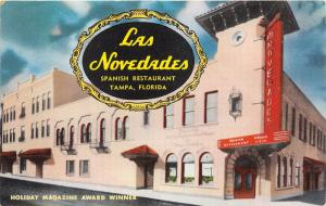 Tampa Florida~Las Novedades Spanish Restaurant @ Broadway & 15th Street~1950s Pc