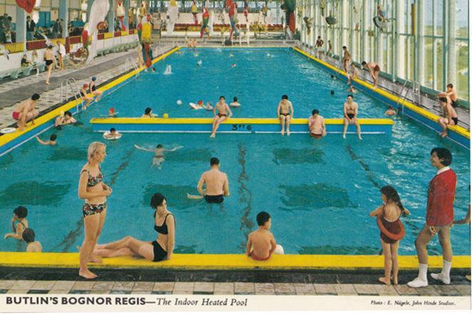 Butlins Bognor Regis Holiday Camp Swimming Pool Lawns 2x Postcard S Hippostcard