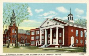 VT - St. Johnsbury. St. Johnsbury Academy, Colby and Fuller Halls