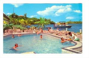 Swimming Pool, The Tradewinds Hotel, Bay of Islands, SUVA , Fiji, 40-60s