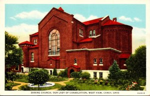 Ohio Carey Our Lady Of Consolation Shrine Church West View 1950