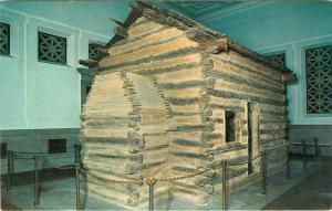 Birthplace Log Cabin Abraham Lincoln Kentucky KY pm Postcard