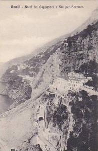 Amalfi, Arial View, Hotel dei Cappuccini e Via per Sorrento, Campania, Italy,...