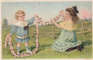 Boy & Girl make a string of Roses , 00-10s