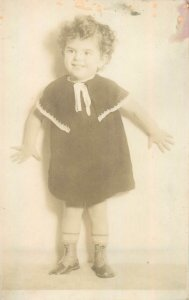 Postcard Social history young child portrait 1934