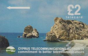 Cyprus Boat Mountain Harbour 2x Phonecard
