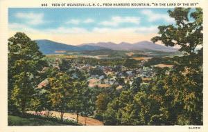 Weaverville North Carolina~View From Hamburg Mountain~1936 Linen Postcard