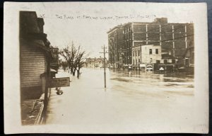 Mint USA RPPC Real Picture Postcard Dayton Ohio The Flood Fifth And Ludlow