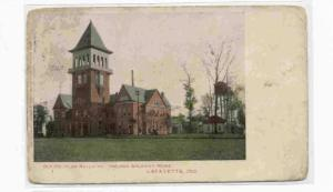 Lafayette, Indiana, PU-1908 ; Old Peoples Building, Indiana Soldiers Home,