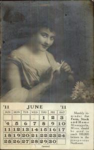 Minneapolis MN Beautiful Woman For Farm Stock & Home 1911 Real Photo