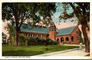 Massachusetts Malden Public Library 1928 Curteich