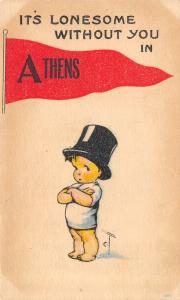 Lonesome Without You in Athens Wisconsin~Charles Twelvetrees Kid~1916 Pennant