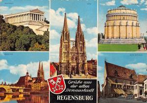 Regensburg Walhalla Dom Altes Rathaus Brucktor Bruecke Bridge Town Hall