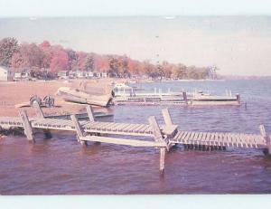 Pre-1980 LAKE ODESSA BOAT DOCKS Wapello - Near Burlington & Davenport IA hp5114