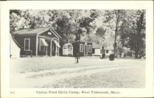 West Townsend MA Vinton Pond Girls Camp Postcard
