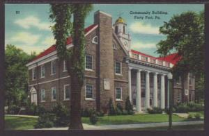 Community Building Forty Fort PA Postcard 4475
