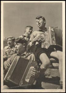 3rd Reich Germany Hitler Youth Music Band HJ RPPC Propaganda Card 84746