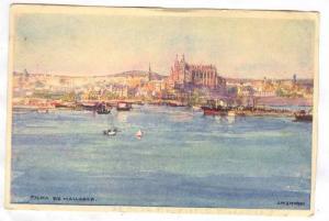 Art postcard, Palma de Mallorca, Spain, 1910-30s; Artist J.M.AITKEN