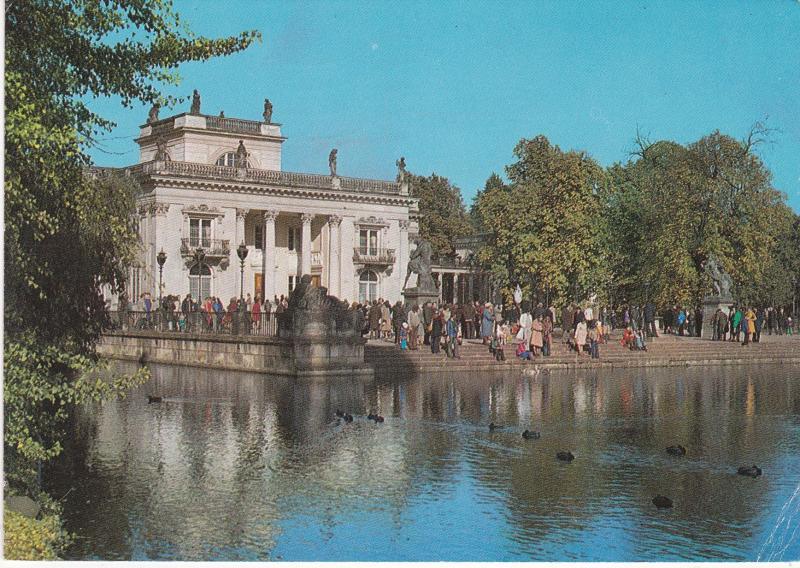 Post Card Poland Warszawa Warsaw Lazienki Palac Na Wyspie